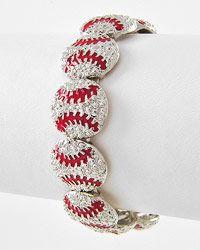 Rhinestone Baseball Bracelet!!