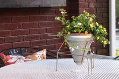 Food Mill Planter by Inspired by Charm with how-to photos