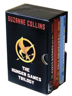 "The Hunger Games Trilogy, consisting of: book one, ""The Hunger Games,"" book two, ""Catching Fire,"" and book three, ""Mockingjay."""