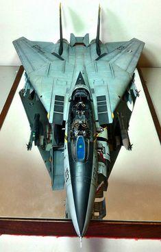 Paulo Estevão Bettinelli Just Finished his Trumpeter 03202 1/32 F-14B Bomb-cat. Stunning!