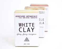 I love how simple this is! Just what I'm looking for.  Herbivore Botanicals Soap #packaging