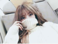 Imagem de pony, ulzzang, and park hye min Ulzzang Hair, Ulzzang Korean Girl, Park Hye Min, Korean Bangs, Pony Makeup, Front Bangs, Uzzlang Girl, Brown To Blonde, Cute Korean