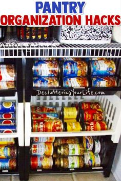 Declutter Your Pantry – Organize Your Pantry in 3 Simple Steps Pantry organization hacks – cheap ways to organize your kitchen pantry – organizing your home on a budget - Gray N Black Organize Kitchen Organisation Hacks, Diy Organization, Kitchen Organization Pantry, Kitchen Pantry, Organized Pantry, Getting Organized At Home, Useful Life Hacks, Decorating Small Spaces, Organizing Your Home