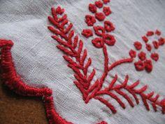 Hand embroidered vintage  French shelf trim by HOPEFRENCHVINTAGE