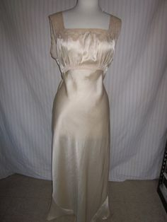Vintage+Silk+Nightgown+1940's+bias+cut+large+size+by+GypsyNotions,+$65.00
