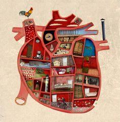 El interior del corazón ~ artist Raquel Diaz #art #journal