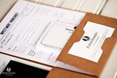 folder packets for client by chicago wedding photographer custom branding