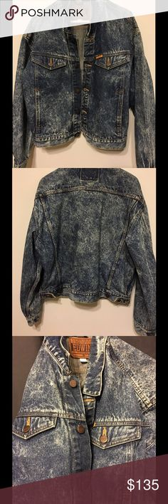 Men's Edwin acid wash Denim jacket no flaws, cool looking jacket. Fits like a generous size Large. Good for layering. please contact with questions Edwin Jackets & Coats Lightweight & Shirt Jackets