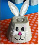 Easy Egg Carton Crafts for Kids - Crafty Morning : What a cute little bunny! The things you can do with an egg box are Eggstraordinary Here are some frugal and fun egg carton crafts for kids to make! Easter Arts And Crafts, Egg Crafts, Bunny Crafts, Crafts For Kids To Make, Easter Crafts For Kids, Toddler Crafts, Spring Crafts, Insect Crafts, Rabbit Crafts