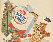 """1955 Post Sugar Crisp Cereal """"Flavor Special"""" Vintage Ad"""