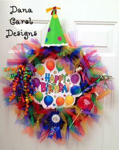 Birthday Party Wreath Decor