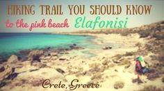 Most of tourists get to Elafonisi by bus or car. But there is also a hiking trail that goes through wild beaches! Live the adventure! Elafonisi Crete