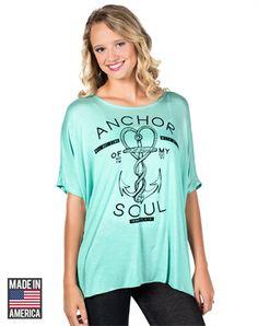 Anchor Soul Oversized Boxy Tee Christian Fashiontops Image