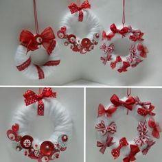 Couronnes de Noël rouges et blanches par Paucile