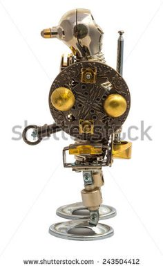 3d Rendering Engine Battle Steampunk Style Stock Illustration ...