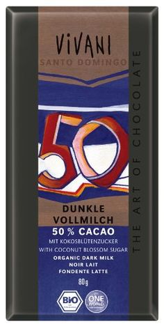 Vivani  Dunkle Vollmilch Chocolate Bar  80g -- Check this awesome product by going to the link at the image-affiliate link.
