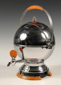 Lot: ART DECO COFFEE URN - Scarce Chrome & Bakelite, Lot Number: 0568, Starting Bid: $100, Auctioneer: Thomaston Place Auction Galleries, Auction: Winter Feature Auction - Day 1, Date: February 8th, 2014 CST