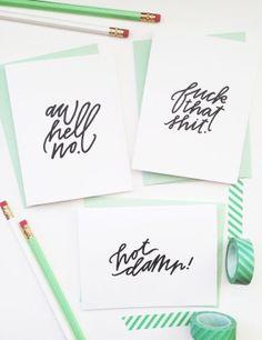 Swear Cards | Brim Papery
