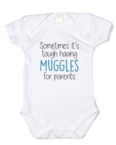 """""""Muggles for Parents"""" White Onesie"""