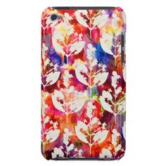 Cute colorful abstract leaves patterns iPod touch case - pattern sample design template diy cyo customize