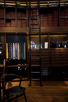 men's closet-like a library