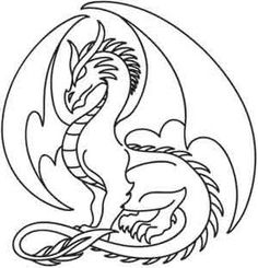 Sapphire Dragon, Free Printable Coloring Pages