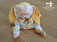 Easy Bunny Rabbit Keepsake / Memory Sewing Pattern From Old Baby Sleepsuits | The Nursery Project