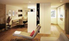 modern, Gesamtkonzept, Raumplanung, weiß, grifflos, schlicht Floor Chair, Flooring, Modern, Furniture, Home Decor, Refurbishment, Concept, Homes, Homemade Home Decor