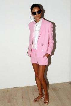pink suit...