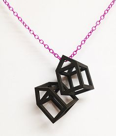 3D printed house necklace via Etsy. Love that ...