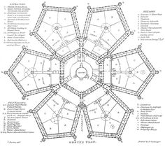 Small Bird House Plans Hexagon Style Exceptional Millbank Prison Pla Free Birdhouse Story Tree Birds With Loft Custom In Meters Country Uk London Tube Map, Old London, Bird House Plans, Bird House Kits, Urban Architecture, School Architecture, Illuminati, Hexagon House, Rpg Map