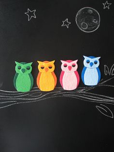Felt owl magnets...turn any felt applique into a magnet