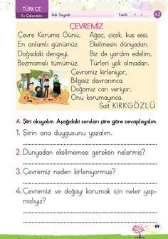 1. Sınıf Konu Anlatım EV ÇALIŞMALARI Learn Turkish, Turkish Language, Learning Arabic, Education, Math, Reading, Books, Kids, Young Children