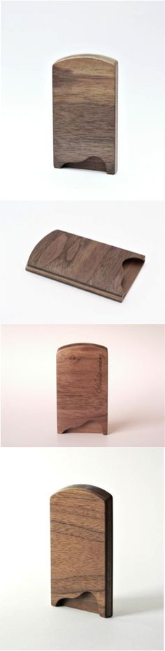 Walnut Business Card Holder by Woodstorming | Hatch.co Keep your business cards…