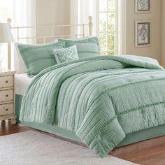 Madison Park Isabella 5-piece Bed Set, Green
