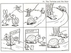 sequence worksheet fables of tortoise and hare Story Sequencing Pictures, Story Sequencing Worksheets, Sequencing Cards, Sequencing Activities, Language Activities, Worksheets For Kids, Picture Story Writing, Picture Story For Kids, Picture Writing Prompts