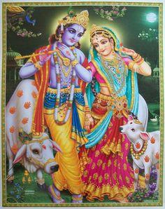 krishna and radha Krishna Flute, Jai Shree Krishna, Radha Krishna Pictures, Radha Krishna Love, Hare Krishna, Bhagavata Purana, Shiva Photos, Cosmic Art, Lord Krishna Wallpapers