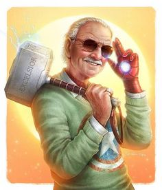 """Happy birthday to the late and great Stan Lee! - """"Excelsior : Stan Lee by SpiderWee Marvel Dc Comics, Marvel Avengers, Avengers Series, Marvel Fan Art, Marvel Funny, Marvel Movies, Marvel Heroes Characters, Disney Marvel, Disney Drawings"""