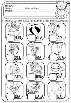 A Arte de Ensinar e Aprender: Atividade pronta - Alfabeto, letra inicial