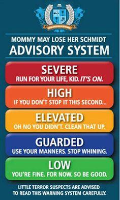 Mommy advisory system