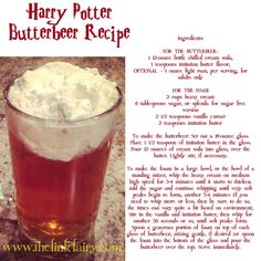 Bring the wizarding fun of Harry Potter home! Create your own butter beer!