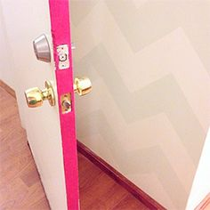 Add a rental-friendly, low-commitment pop of color to a room by painting your inner door frames!