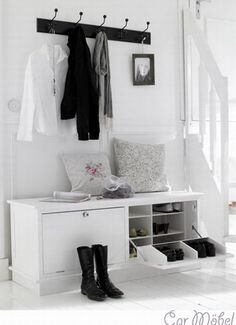 New Ikea Storage Living Room Hallways Ideas Hallway Inspiration, Interior Inspiration, Hallway Ideas, Home Design, Design Ideas, Hallway Storage, Entryway Bench, Shoe Cabinet Entryway, Door Entryway