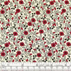 VINTAGE FLOWER CLASSIC PRINT 100% COTTON FABRIC CLOTH Q...