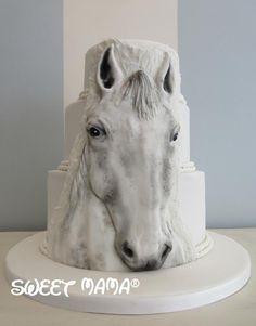Horse wedding cake - Cake by SweetMamaMilano