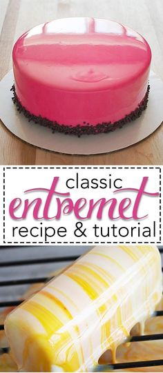 Shiny cakes, also known as Entremets. They are all the rage right now world and I have the recipes and step-by-step tutorials HERE for you! Fun, easy, and oh so impressive! #entremet #cakedecorating #dessert #karascouturecakes