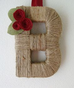 Household initial door hanger. Perfect for any season!