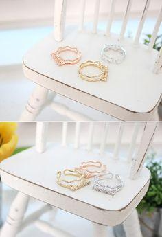 [바보사랑] 예쁨돋는 물결반지..사주세요.. /반지/주얼리/악세서리/패션/스타일링/코디/디자인/Ring/Jewelry/Accessories/Fashion/Styling/Design