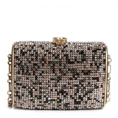 CHANEL Swarovski Crystal Evening Bag Black Gold ❤ liked on Polyvore featuring bags, handbags, clutches, chanel, chanel clutches, black evening bag, black box clutch, gold clutches and hard clutch