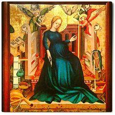 La Vierge Marie enceinte de l'Enfant Jésus. The Virgin Mary pregnant with Jesus.  Hongrie 1409.